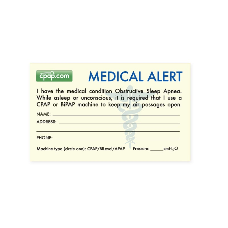 Medical alert cards templates for Medical alert wallet card template